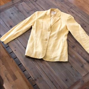 Wonderful yellow linen jacket